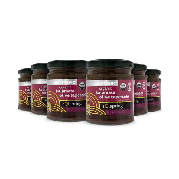 Tapenade de Aceitunas Kalamata Orgánico Solspring™ Biodynamic® (6.7 oz por frasco): 6 frascos