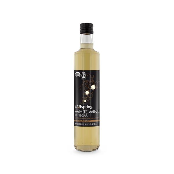 Solspring® Biodynamic® Organic White Wine Vinegar (16.9 fl. oz. per bottle): 1 Bottle