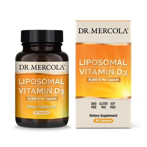 Liposomal Vitamin D3 10,000 IU (90 per bottle): 90 Day Supply