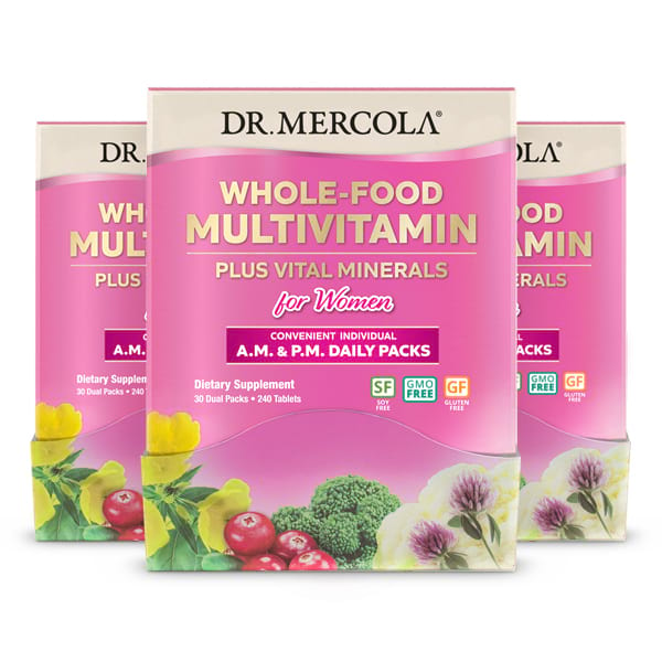 Whole-Food Multivitamin Daily Packs for Women (720 per box): 90-Day Supply