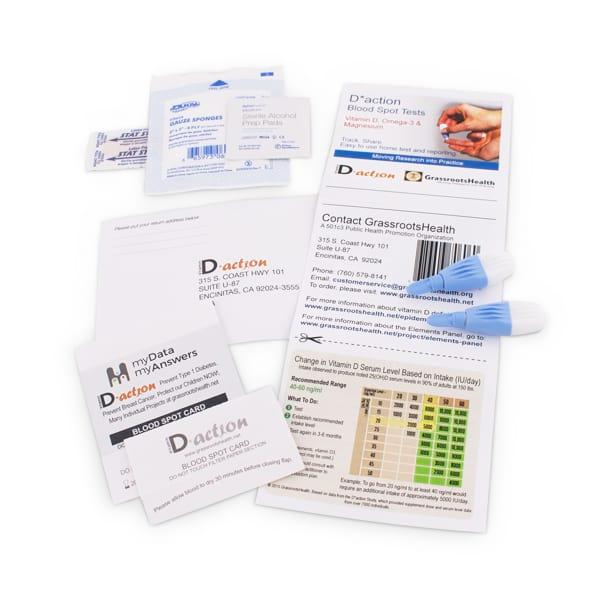 Vitamin D, Magnesium & Omega-3 Test Kit