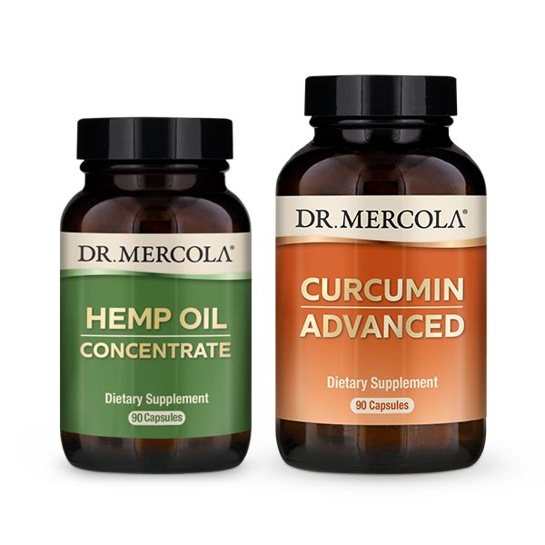 Hemp Oil Concentrate & Curcumin Advanced: 90-Day Supply