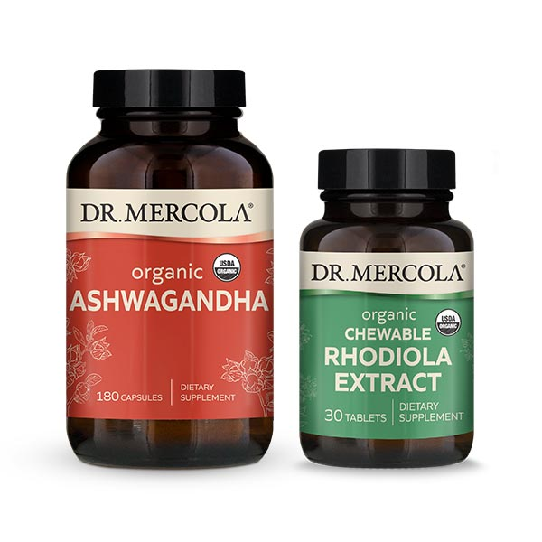 Organic Ashwagandha & Rhodiola Extract: 90 Day Supply