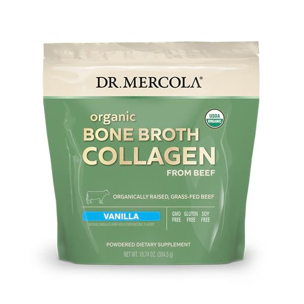 Organic Collagen Powder From Grass Fed Beef Bone Broth - Vanilla