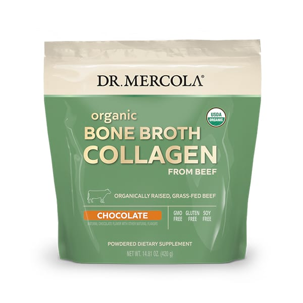 Organic Collagen Powder From Grass Fed Beef Bone Broth - Chocolate (10.74 Oz. per bag): 1 Bag
