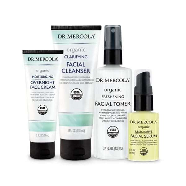 Organic Nighttime Skincare Set