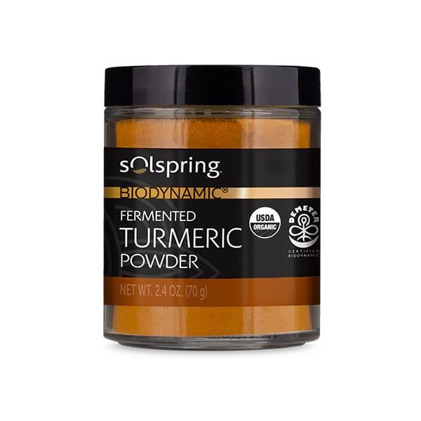 Solspring® Biodynamic® Organic Fermented Turmeric Powder (2.4 oz): 1 Jar