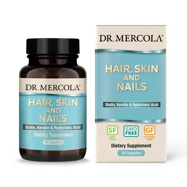 Hair, Skin and Nails (Biotin, Keratin & Hyaluronic Acid) (30 per bottle): 30-Day Supply