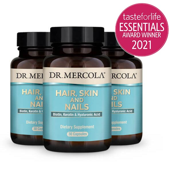 Hair, Skin and Nails (Biotin, Keratin & Hyaluronic Acid) (30 per bottle): 90-Day Supply