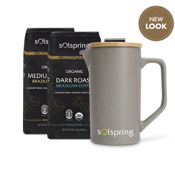 Solspring French Press and Coffee Bundle