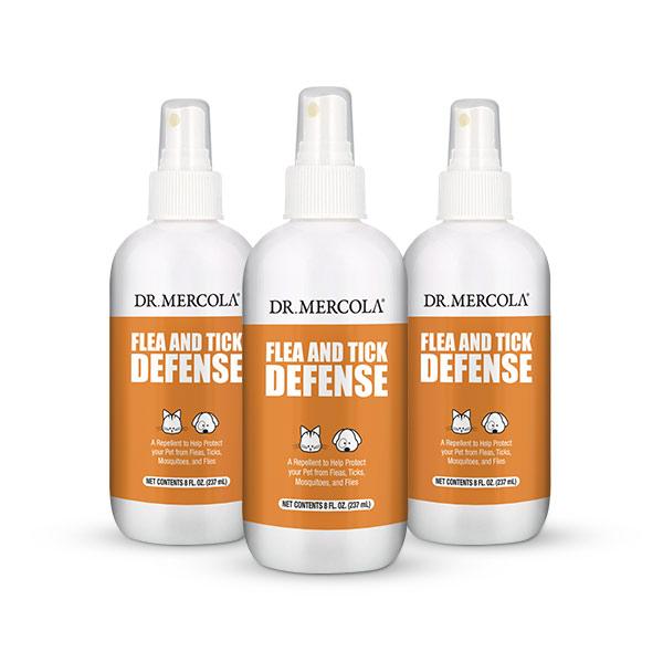 Flea and Tick Defense (8 oz per bottle): 3-Pack