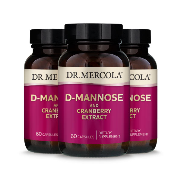 D-Mannose and Cranberry Extract (60 per bottle): 90 Day Supply