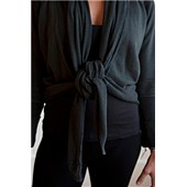 Organic Convertible Wrap (black): Small