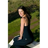 Organic Essential Camisole (black with dark grey trim): Small