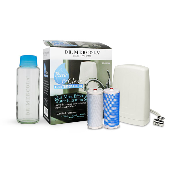 Countertop Drinking Water Filter w/ Replacement Filter Cartridges