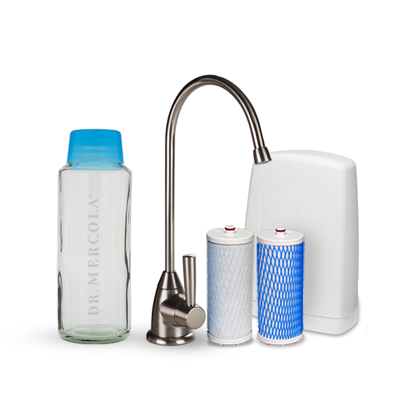Under Counter Drinking Water Filter w/ Replacement Cartridges