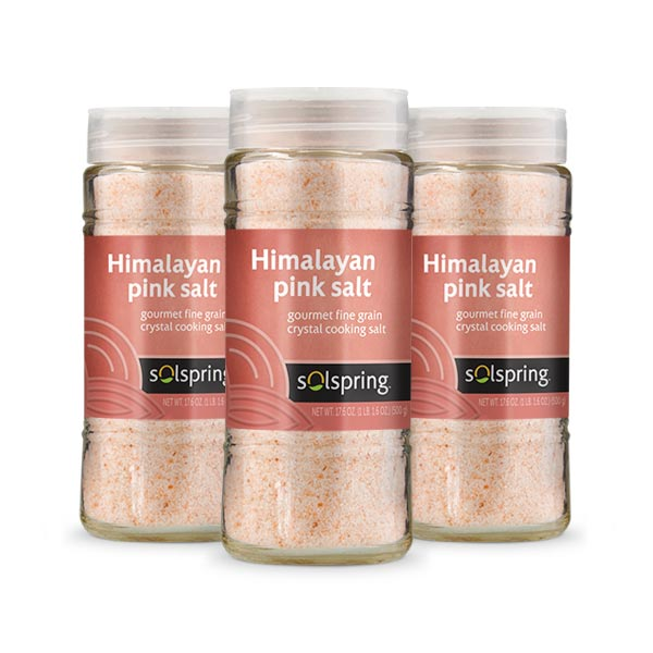Himalayan Crystal Cooking Salt (500g): 3-Pack