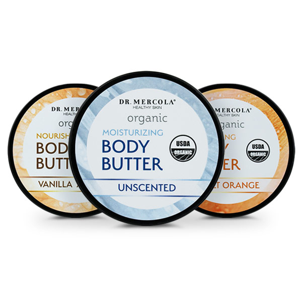Organic Body Butter 3-Pack Variety