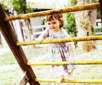 child, playing outside