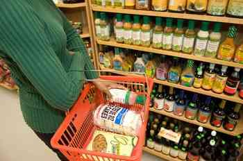 organic foods, supermarket