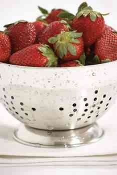 washing produce, strawberries