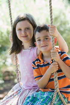 children outdoors, environmental