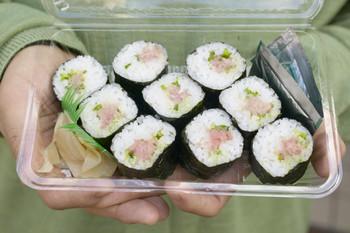 sushi, fish