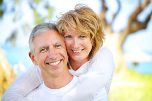 matured couple smiling