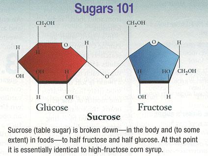 glucose, fructose, sugars