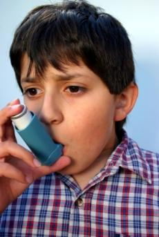 kid with asthma