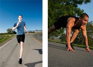 skinny marathoner fit musculat sprinter
