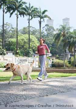 Jogging with your pet in the park