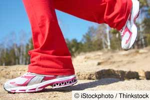 Lose weight by brisk walking speed