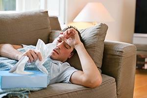 Парень с гриппом