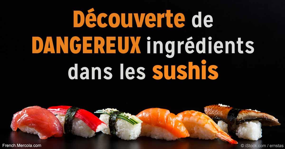 D couverte d ingr dients dangereux dans les sushis - Vers dans les cerises dangereux ...