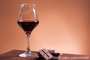 Vinho tinto e chocolate