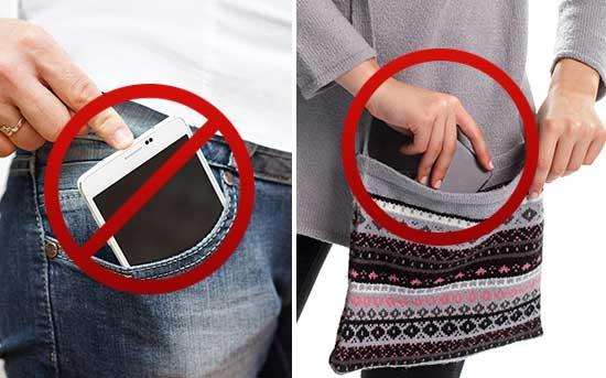 Держите телефон не в кармане, а в сумке