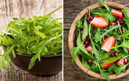 см. ниже: салат из рукколы
