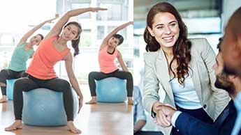 ピラティスの健康へのメリットは自信、姿勢、生産性のアップにつながる