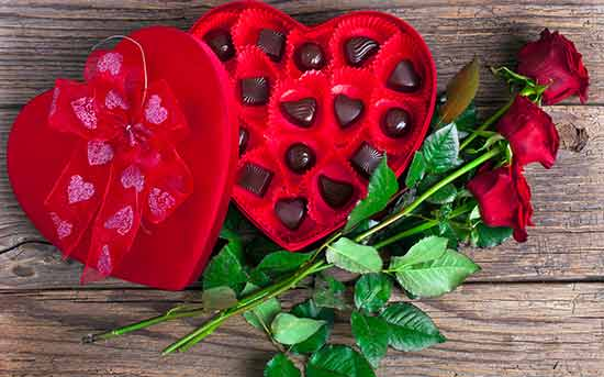 Schokolade statt Blumen