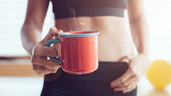 Kaffee vor dem Training