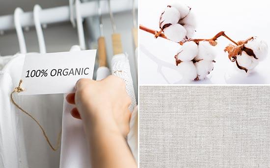 采用有机棉/有机天然染料制成的服装