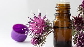 Utilisez l'huile de bardane pour stimuler la pousse des cheveux