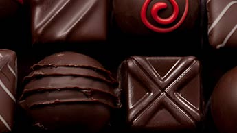 Boite de chocolats noirs