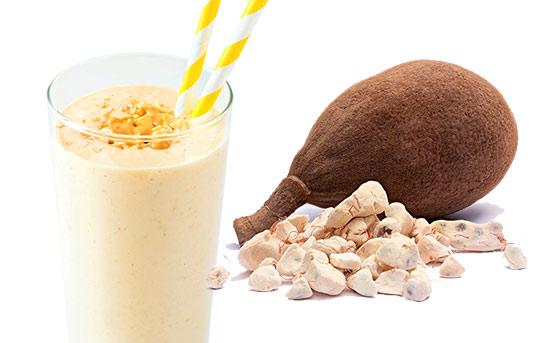 热带猴面包树果肉冰沙