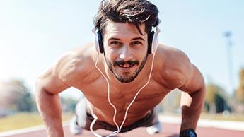 ouvir música durante os exercícios