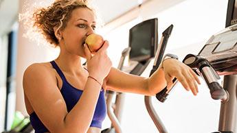운동 중 사과 섭취