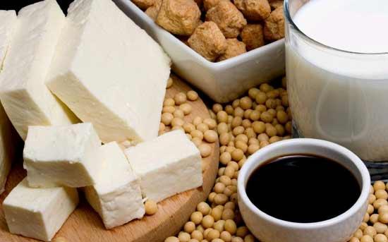 Sojaproteinisolat und andere nicht fermentierte Sojaprodukte