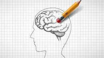 cérebro humano apagado