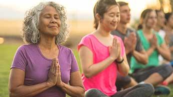 Meditation verbindet geist und körper